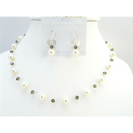 Low Prices Ivory Pearls Smoky Quartz Swarovski Crystal Fashion Jewelry