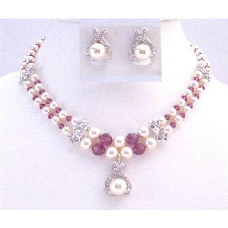 Mother Of Groom Jewelry Double Stranded Necklace Ivory Pearl