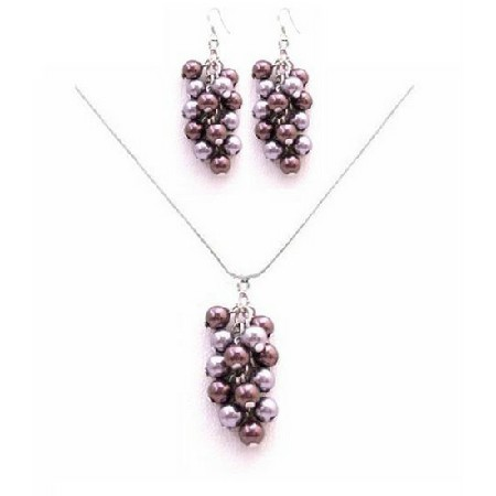 Celebrity Costume & Fashion Jewelry Lavender & Purple Pearls Jewelry