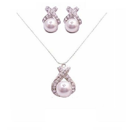 White Pearls Bridal Party Jewelry Spectacular Necklace Set