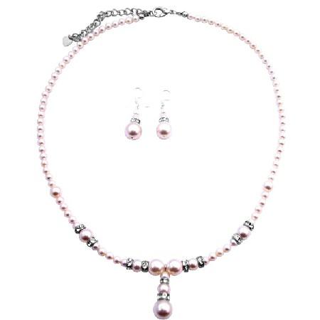 FashionJewelryForEveryone.com Ivory Wedding Gown Jewelry Ivory Pearls Bridal By Fashionjewelry With Silver Rondells Spacer at Sears.com