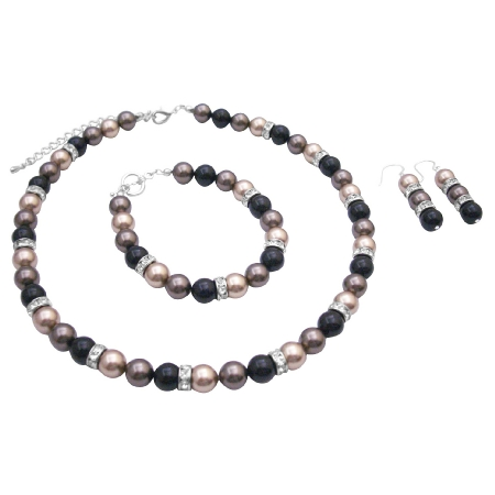 Custom Designed Presentation Gift Tricolor Pearls Jewelry