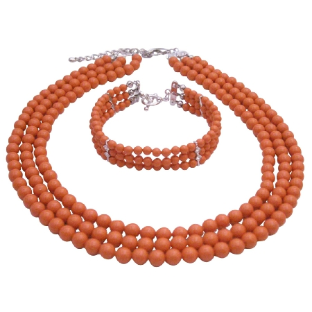 Traditional Anniversary Gifts Coral Angel Skin Pearls Jewelry