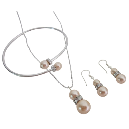Customize Your Wedding Jewelry Peach Pearls At Unbelievable Price