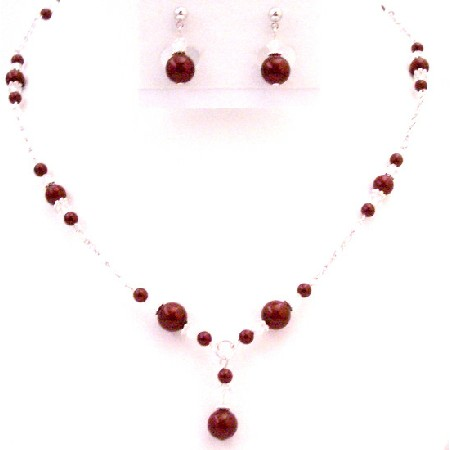 Offers Cheap but Chic Christams Gift Year Party Wine Color Jewelry