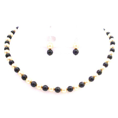 Golden Black Pearls FashionJewelryForEveryone.com