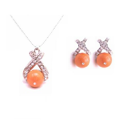 Magnificent Pearl Necklace Set Coral Pearl Jewelry Set