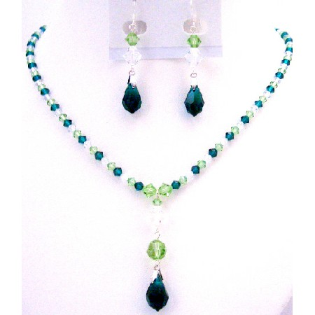 Personal Wedding Of Bridal Party Green Combo Fantastic Jewelry Set