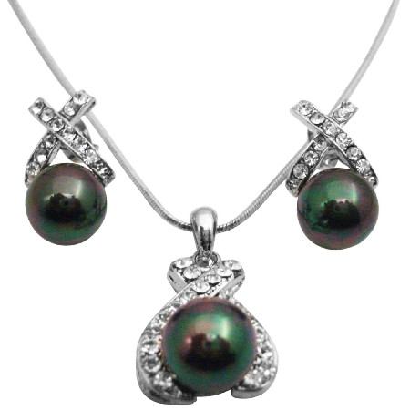 Tahitian Pearls Pendant Necklace Oyster Shell Pearls Pendant Jewelry