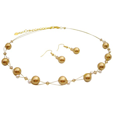 Jewelry That Make Your Wedding In Gold Pearls Ivory Colorado Crystals