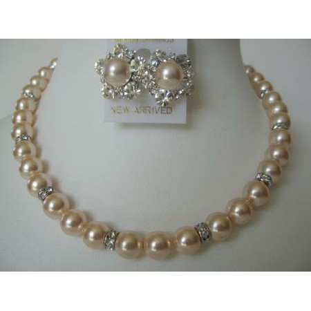 Handcrafted Rich Pearls Swarovski Pearls Bridal Mother Fashion Jewelry