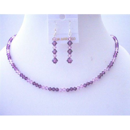 Handcrafted Custom Amethyst Light & Dark Crystals Jewelry