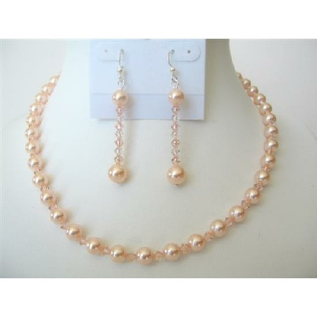 Pearch Pearls & Crystals Affordable Jewelry Necklace Set