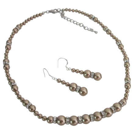 Handcrafted Custom Jewelry Bronze Pearls Silver Rondells