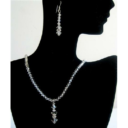 Wedding Jewelry Clear Crystals Bridesmaid Bridal Jewelry Set