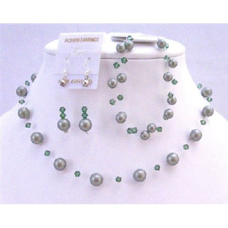 Green Pearls Crystal Jewelry Powder Green Turmarine Crystals