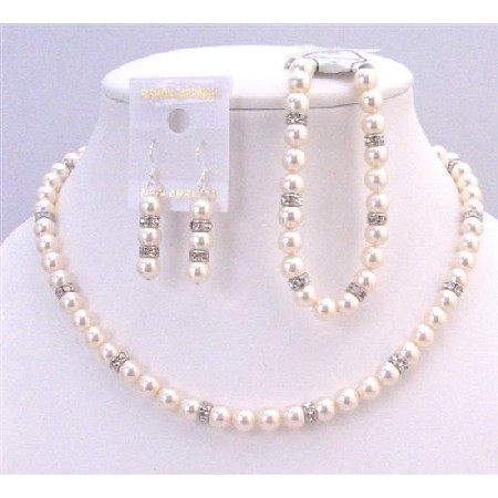 Fashion Jewelry Custom Pearls Jewelry Ivory Pearls Bracelet