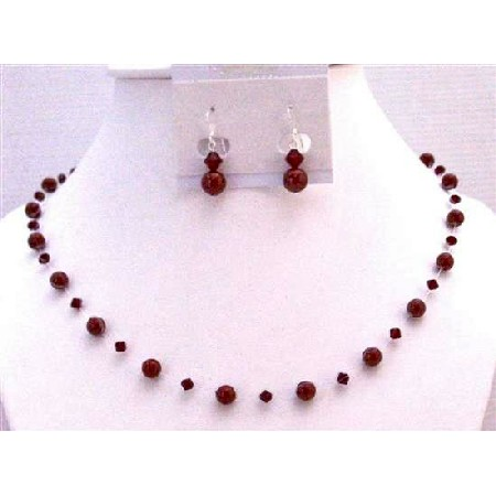 Jewelry of Passion in Wine Red Bordeaux Pearls Siam Red Crystals