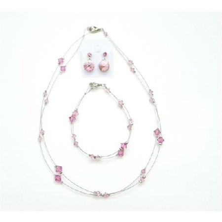 Match Your Jewelry Rose Attire Get Affordable Crystals Jewelry