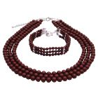 Sophisticated Jewelry Gift Mother of Bride Or Groom In Wine Color Jewelry